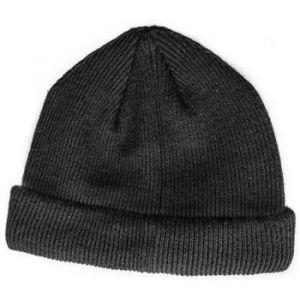 Masterdis Short Cuff Knit - Bonnet - Noir noir