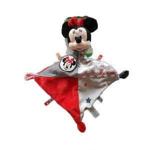 Doudou Disney Minnie Plat Gris Et Rouge Nuage Etiquette Etoile