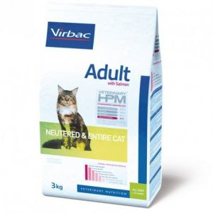 Virbac Adult Cat au Saumon Neutered & Entire - Sac 3 kg