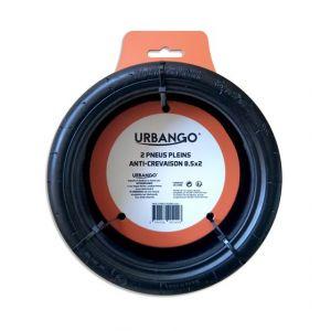 Urbango Lot 2 pneus pleins pour trottinettes Xiaomi MIJA M365