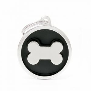 Myfamily Médaille classic grand cercle os noir