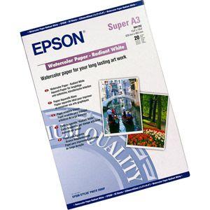 Epson C13S041352 - S041352 - Papier Aquarelle blanc - A3+