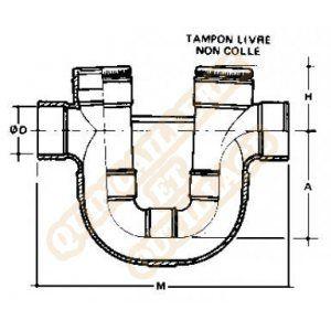 Nicoll Siphon disconnecteur monobloc Ø125 ff à coller YDX