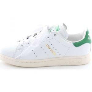 Adidas Stan Smith, Baskets Mixte Adulte, Blanc (Footwear White/Footwear White/Green), 37 1/3 EU