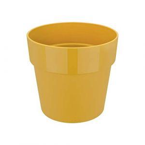 Elho pot de fleurs - b.for rond mini 9cm ocre - 9 x 9 x 8.2 cm