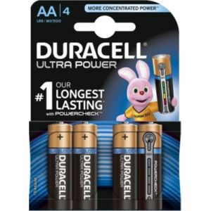 Duracell Ultra Power 1,5V LR06 AA - Blister de 4 piles