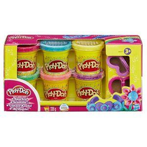 Hasbro Play-Doh - Collection de pâte scintillante