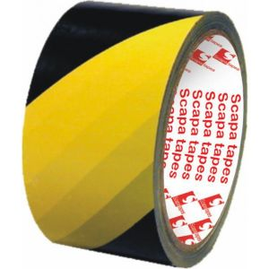 Barnier Ruban de signalisation zébré 33mx75mm jaune - 149459/2724