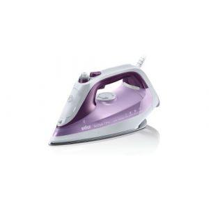 Braun SI 7066 VI fer à repasser Fer à repasse à sec Semelle Eloxal Violet, Blanc 2600 W, Fer à vapeur