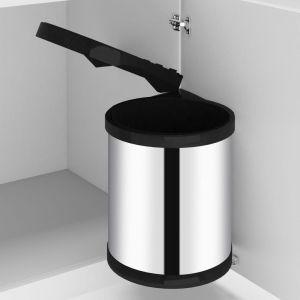 VidaXL Poubelle intégrée de cuisine Acier inoxydable 12 L