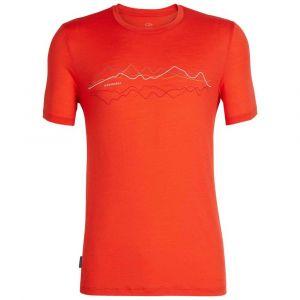 Icebreaker Mens Tech Lite SS Crewe Original Chili Red T-shirts