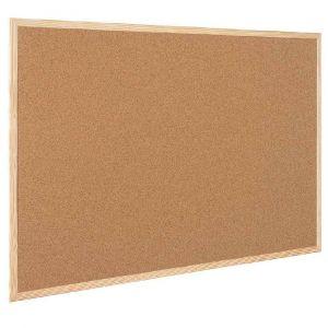 Bi-office MC030012010 - Tableau liège cadre bois 60x45cm