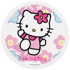 Sanrio Disque de décoration en sucre Hello Kitty (16 cm)