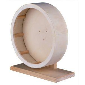 Trixie Roue d'exercice en bois pour rongeurs 15 cm