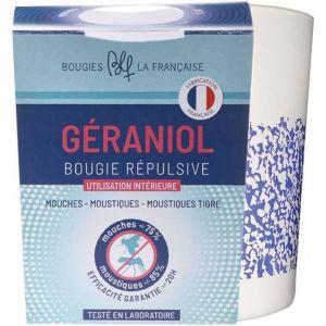 Bougies la Française Bougie de géraniol dans verre avec sérigraphie mouchetée Ø 6,6 x 9 cm