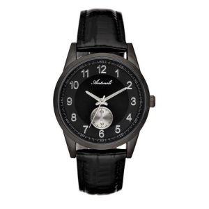 Antoneli Montre Mixte Cadran 35mm En Leather Noir Et Bracelet Noir En Acier Al1771-02