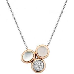 Ti sento 3840WM-42 - Collier et pendentif en or rose et argent pour femme