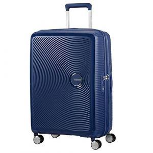 American Tourister Soundbox Spinner Extensible, 67cm, 71,5/81 L - 3,7 KG, Bleu (Midnight Navy)