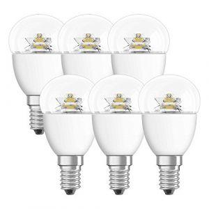 Osram 4052899912106 Ampoule LED Star sphérique Culot E14 6,0 W Transparent Lot de 6