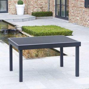 Alpina Garden Modulo - Table de jardin 6/10 personnes en aluminium 135/270 x 105 x 72 cm