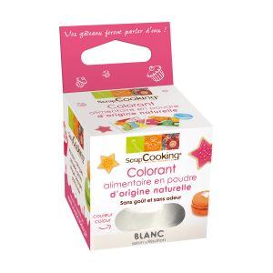 Scrapcooking Colorant en poudre naturelle blanc + Colorant en poudre naturelle marron