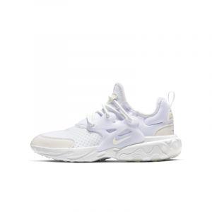 Nike Chaussures enfant REACT PRESTO (GS) / BLANC blanc - Taille 36,38,39,40,37 1/2,38 1/2,36 1/2