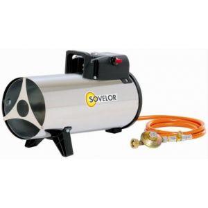 Sovelor Chauffage air pulsé portable inox au gaz propane Puissance élec. 50W MG180