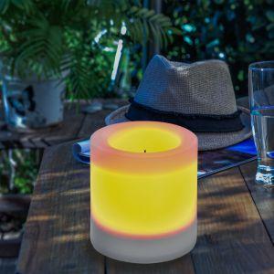 Esotec Bougie solaire 100x100mm LED lumière solaire décoration de jardin bougie lumière 102233