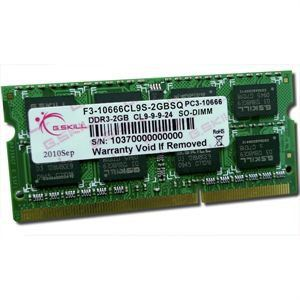 G.Skill F3-10666CL9S-2GBSQ - Barrette mémoire Standard 2 Go DDR3 1333 MHz 204 broches