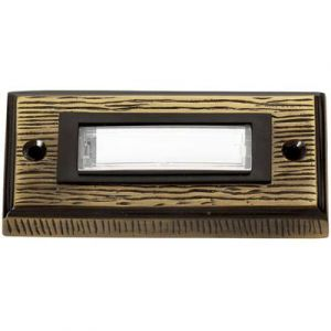 Heidemann Plaque de sonnette 1 prise 70301 bronze 24 V/1 A