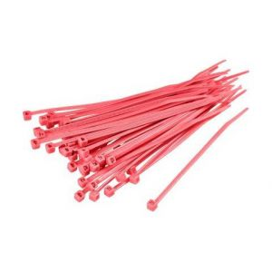 Tru Components SERRE-CABLES 150 MM X 3.60 MM ROUGE TC-KL25GYZ-20M203 1593690 CRANTAGE INTERIEUR 100 PC(S)
