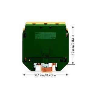 Wago 400-499/499-176 - Borne de protection; pour socle de connexion