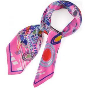 Allée du foulard Echarpe Carré de soie Galaxy rose rose - Taille Unique