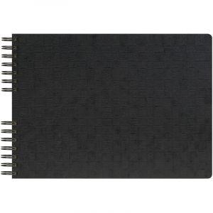 Exacompta 16740E - Album photos Scotten 32x22 cm, 50p. noires/100 photos, reliure à spirales, assortis