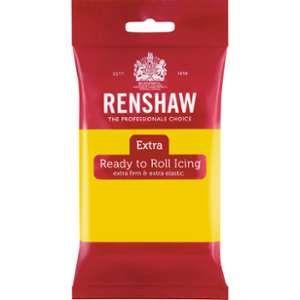 Renshaw Pâte à sucre extra - Jaune - 250gr