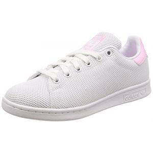 Adidas Stan Smith W, Chaussures de Fitness Femme, Blanc Ftwbla/Rosmar 000, 40 2/3 EU