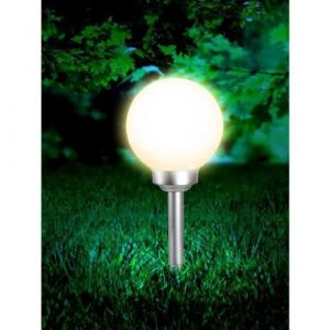 Globo Lighting Globe solaire - Plastique gris métallisé - Plastique blanc - IP44