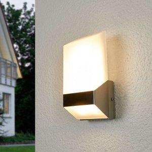 Lutec Applique d'extérieur LED moderne en inox Flat