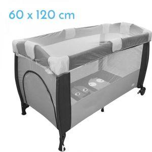 Monsieur Bébé Moustiquaire universelle pour lit bébé 60 x 120 cm - Blanc transparent - Norme CE