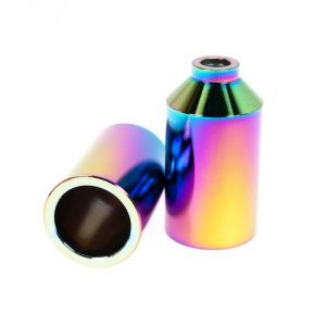 Blunt scooters Pegs Chromo Oil Slick pour trottinette freestyle