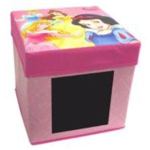 Fun House Boîte de rangement avec ardoise Princesses en carton
