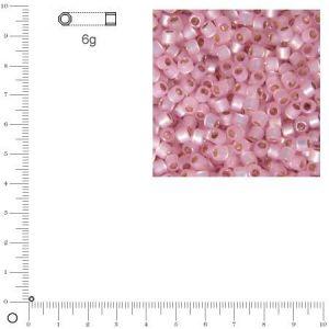 Rayher Miyuki Delicas 11/0 éclat de perle - Rosé DB0624 - 6 g