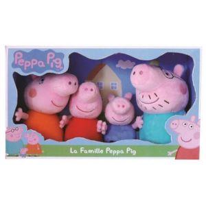 Jemini La famille Peppa Pig - Coffret 4 personnages en peluche