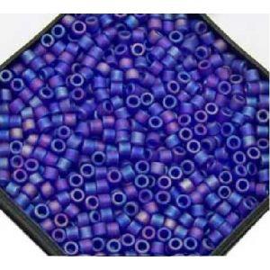 Rayher Perles Miyuki Delica 10/0 transparent dépoli bleu royal - DMB 864
