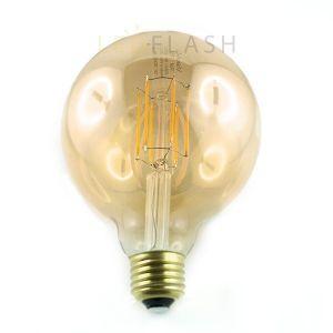 Vision-El Ampoule Led 8W (70W) FILAMENT E27 Globe doré D95 Blanc chaud 2700°K -