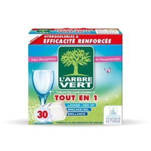 L'Arbre Vert Tablettes Tout en1 lave-vaisselle - Boîte de 30 tablettes