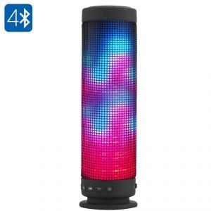 High-Tech Place Enceinte portable Bluetooth 4.0 360 degrés LED