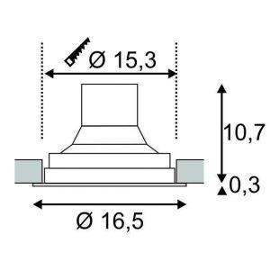 SLV Spot LED encastrable LED intégrée Supros 114110 blanc chaud 35 W noir