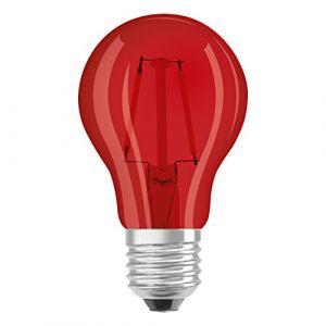 Osram 4058075816060 - Lot de 6 Ampoules LED - Couleur Rouge - 4W Equivalent 15W - Culot E27