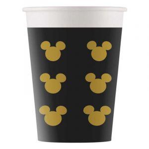 Procos 8 Gobelets en carton Mickey Gold 160 ml Taille Unique